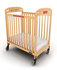 Safe Haven Fixed Side Evacuation Crib, Clearview with Evac Frame