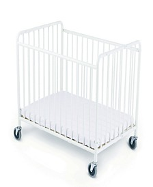 StowAway Folding Compact Steel Crib with Foam Mattress