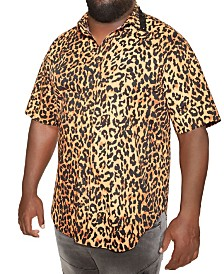 MVP Collections Animal Print Spiked Collar Button-Up Shirt