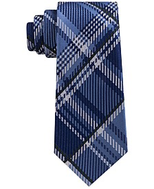 Sean John Men's Textured Plaid Silk Tie
