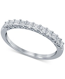 Diamond Princess Trellis Band (1/2 ct. t.w.) in 14k White Gold
