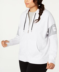 Calvin Klein Performance Plus Size Colorblocked Zip Hoodie