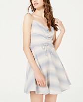 03f23c78c7b4 Trixxi Juniors' Striped Ruched Fit & Flare Dress