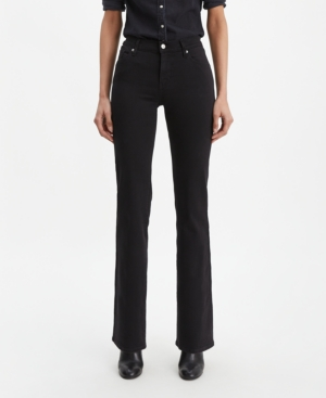 Levi's Ribcage High Waist Bootcut Jeans In Soft Black