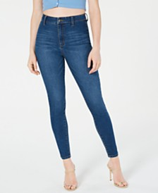Tinseltown Juniors' High-Rise Skinny Ankle Jeans