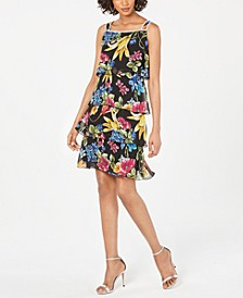 Tiered Floral-Print Dress