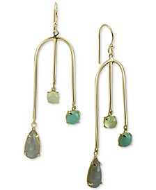 Multi-Stone Dangle Earrings in Gold-Plated Sterling Silver