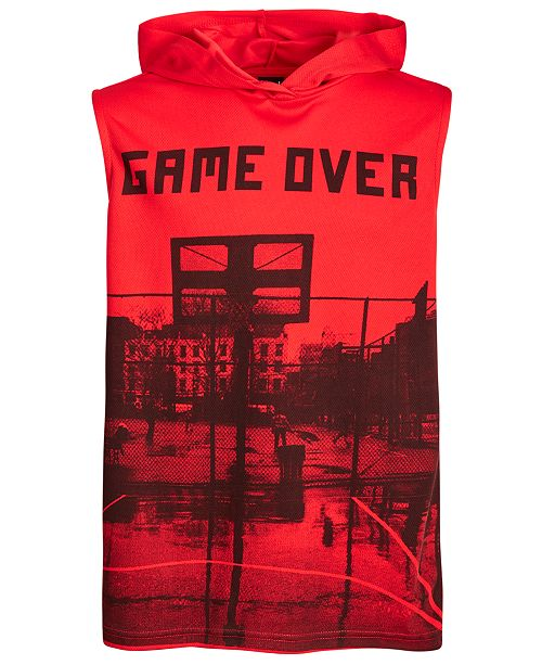 Ideology Big Boys Graphic-Print Hooded Tank Top, Created for Macy's