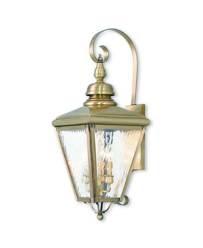 Livex - Cambridge 3-Light Outdoor Wall Lantern