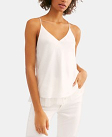 Free People One I Love Chiffon-Hem Camisole Top