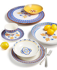 Martha Stewart Collection La Dolce Vita Pattern Dinnerware Collection, Created for Macy's