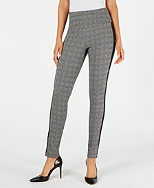 INC Glen Plaid Shaping Leggings with Extended Sizes, Created for Macy's
