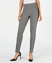 dcaa466a3f509f I.N.C. Glen Plaid Shaping Leggings with Extended Sizes, Created for Macy's