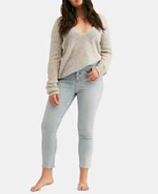 Free People Curvy Mardi High Rise Skinny Jeans