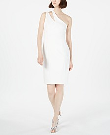 Cutout One-Shoulder Sheath Dress