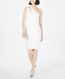 Calvin Klein Cutout One-Shoulder Sheath Dress