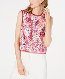 Rachel Zoe Effie Sequined Tank Top