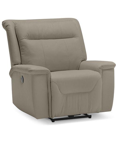 "Furniture Kolbrooke 40"" Leather Power Wallhugger Recliner"