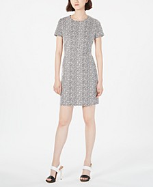 Jacquard Ponté-Knit Sheath Dress