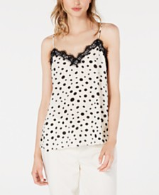 Bar III Polka Dot Camisole Top, Created for Macy's