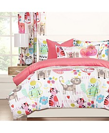 Purrty Cat 6 Piece Queen Luxury Duvet Set