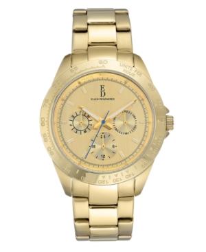 Ellen Degeneres Women's Gold Stainless Steel Bracelet Watch 40mm