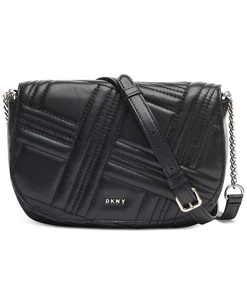 DKNY Allen Leather Saddle Bag, Created for Macy's