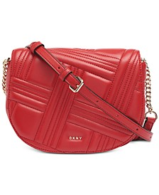 Allen Leather Saddle Bag, Created for Macy's