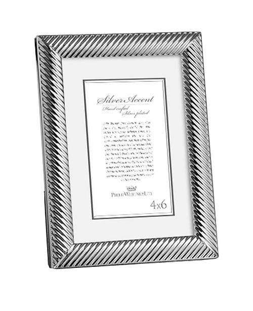 Philip Whitney 4x6 Diagonal Silver Frame