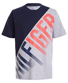 Tommy Hilfiger Big Boys Colorblocked Angle Logo T-Shirt