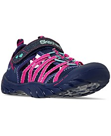 Skechers Little Girls' Summer Steps - Glimmer Brights Athletic Sandals from Finish Line