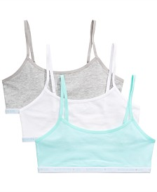 Maidenform Little & Big Girls 3-Pack Beginner Bras