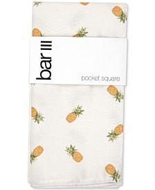 Men's Pineapple-Print Pocket Square, Created for Macy's