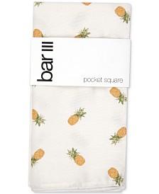 Bar III Men's Pineapple-Print Pocket Square, Created for Macy's