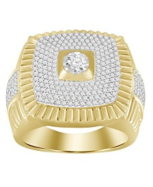 Diamond (7/8 ct.t.w.) Men's Ring in 10k Yellow Gold