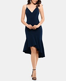 XSCAPE Asymmetrical Ruffle Bodycon Dress