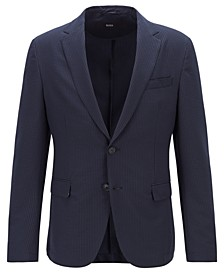 BOSS Men's Noort-WG Slim-Fit Seersucker Jacket