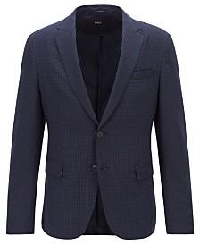 BOSS Men's Noort-WG Slim-Fit Seersucker Jacket