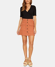 Desert Button Front Mini Skirt
