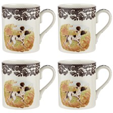 Spode Woodland Pointer Mug Set/4