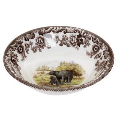 Woodland Black Bear Ascot Cereal Bowl