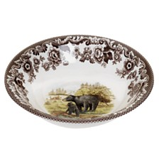 Spode Woodland Black Bear Ascot Cereal Bowl