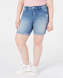 Seven7 Jeans Trendy Plus Size Weekend Denim Bermuda Shorts