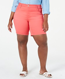 Seven7 Jeans Trendy Plus Size Weekend Color Denim Bermuda Shorts