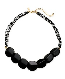 "I.N.C. Gold-Tone Multi-Bead Statement Necklace, 20"" + 3"" extender, Created for Macy's"