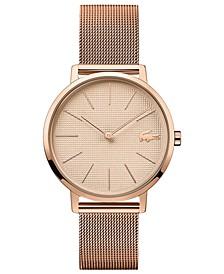 Women's Moon Ultra Slim Rose Gold-Tone Stainless Steel Mesh Bracelet Watch 35mm
