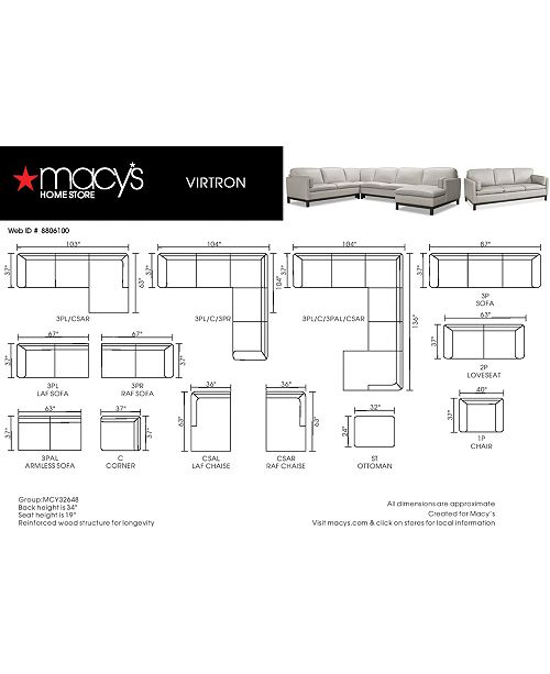 Groovy Virton 3 Pc Leather L Sectional Sofa Created For Macys Ibusinesslaw Wood Chair Design Ideas Ibusinesslaworg