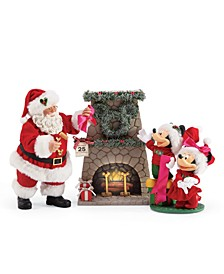 Possible Dreams Mickey, Minnie and Santa Hang the Perfect Wreath Figurine