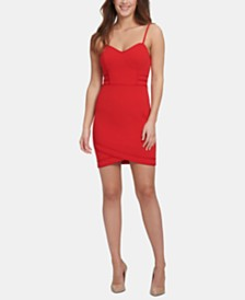 GUESS Cross-Hem Bodycon Dress