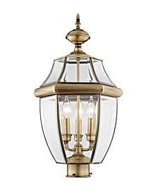 Monterey 3-Light Outdoor Classic Color Post Lantern
